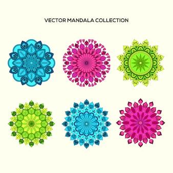Multicolor mandala collectio