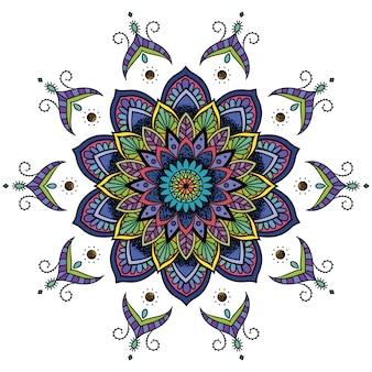多色の曼荼羅のデザイン