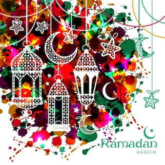 Multicolor ramadan background design