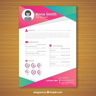 Multicolor resume template