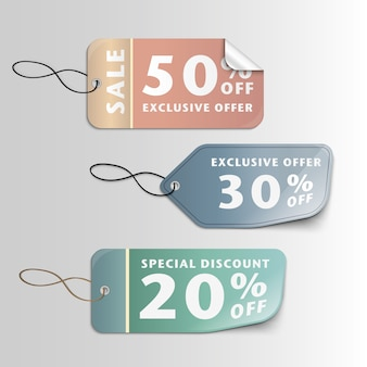 Multicolor sales labels
