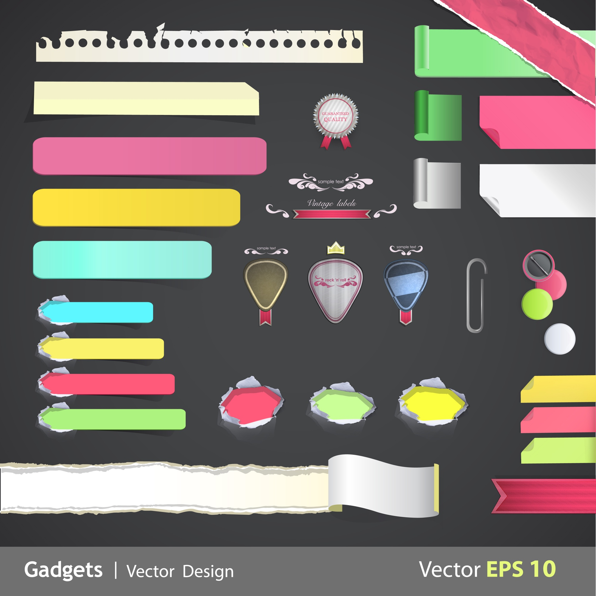 Multicolor stationery collection