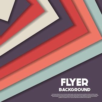 Multicolor triangles background design
