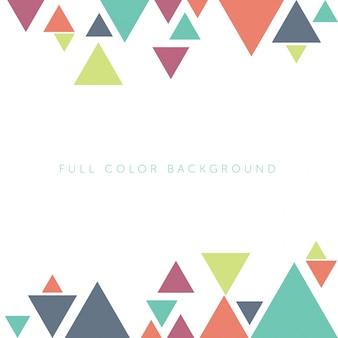 Multicolor triangles background