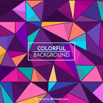 Multicolor triangles background