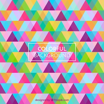 Multicolor triangles pattern background