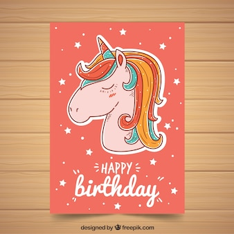 Multicolor unicorn poster template