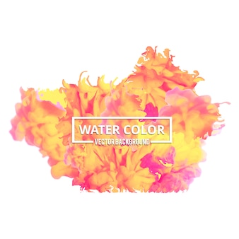 Multicolor watercolor splash background