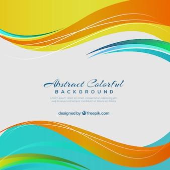 Multicolor wavy background