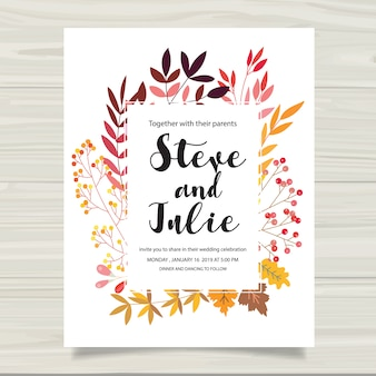 Multicolor wedding card