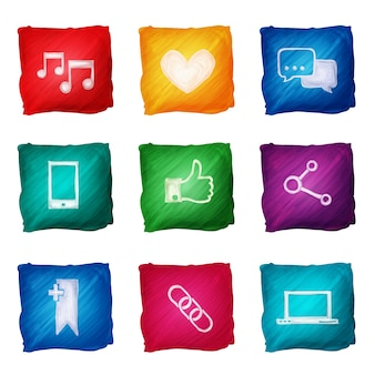 Multimedia icons collection