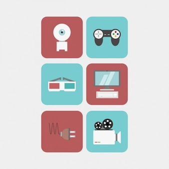 Multimedia icons pack