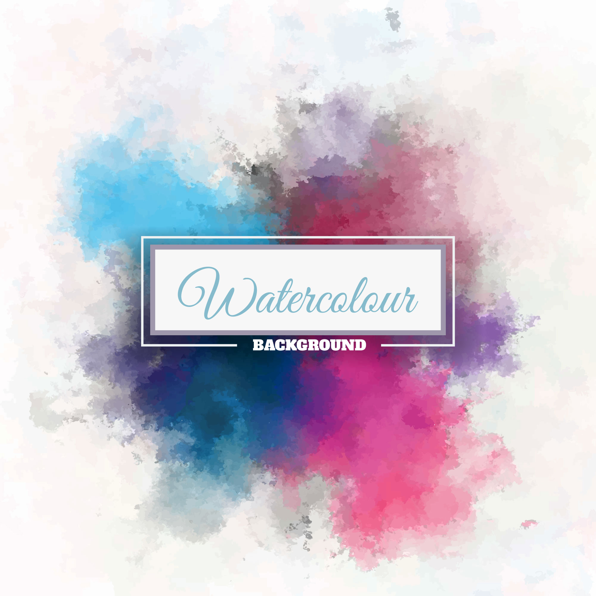 Multiple watercolor background