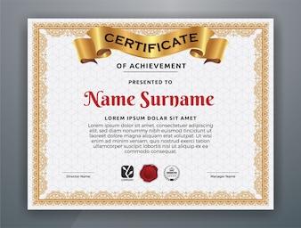 Multipurpose Certificate Template Design for Print. Vector illustration