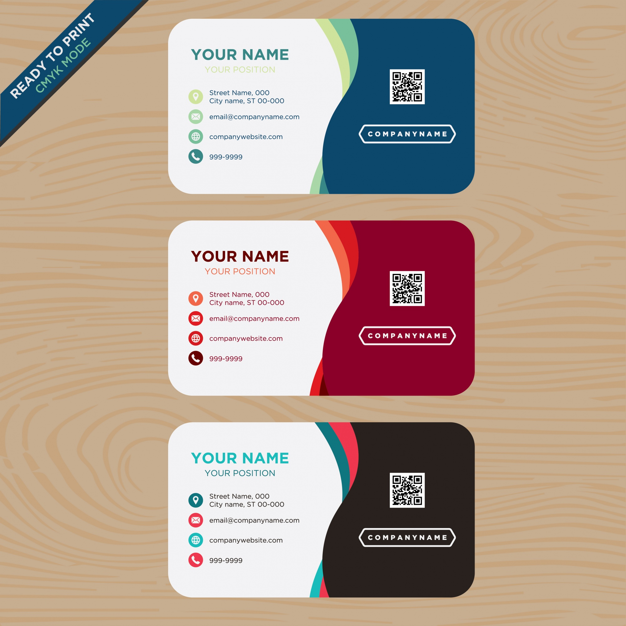 Multitone business card