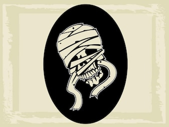 Mummy graphic creature vector