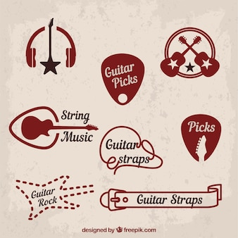 Music and classic rock symbols