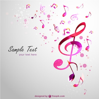 Music clef vector background