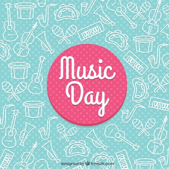 Music day background