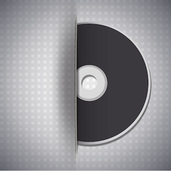 Music disc on metalic background