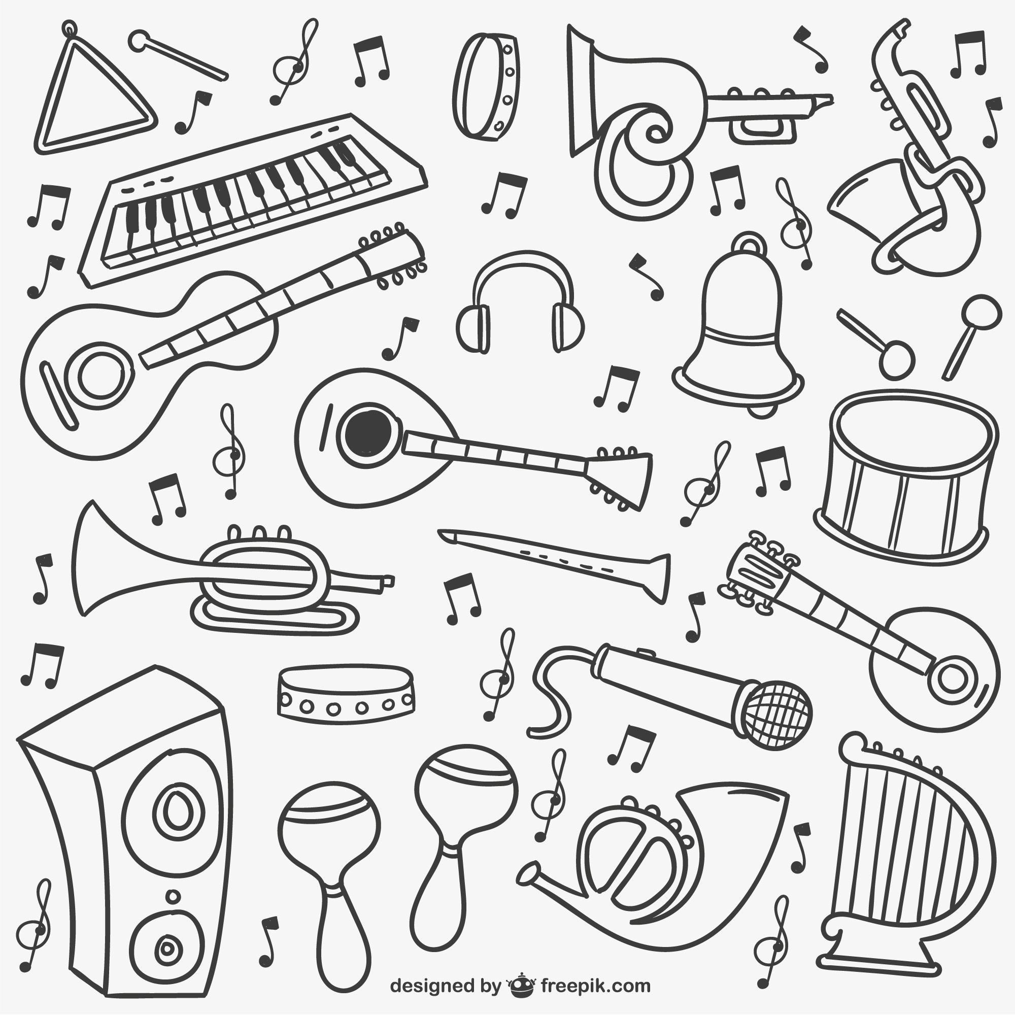 Music doodles pack