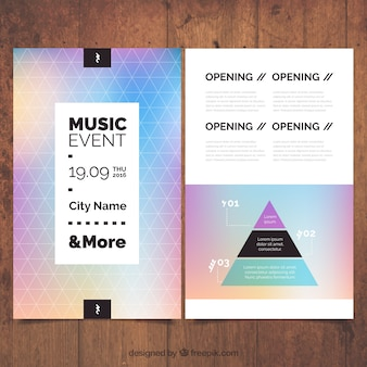 Music event poster, geometric style