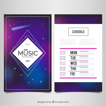 Music event poster, space theme