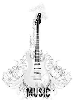 Music fashion art string guitar