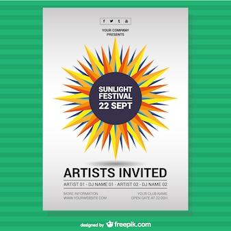 Music festival sunlight poster