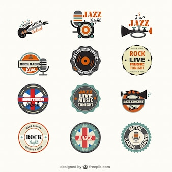 Music genders badges