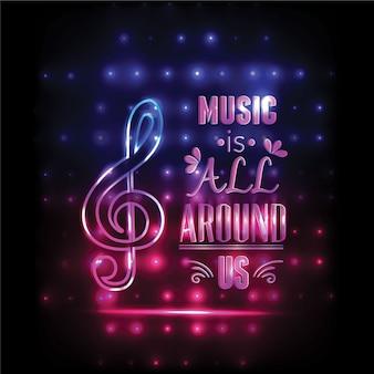 タイポグラフィーによる音楽イラスト