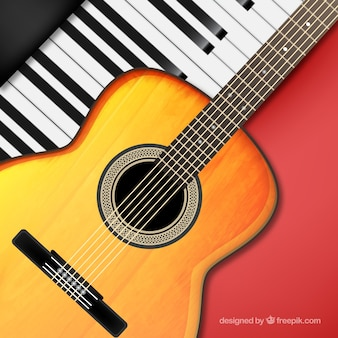 Music instruments background