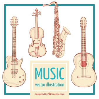 Music instruments illustration