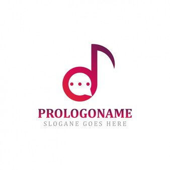 Music logo template design