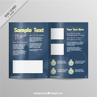 Music magazine pages template