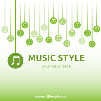 Music melody vector background