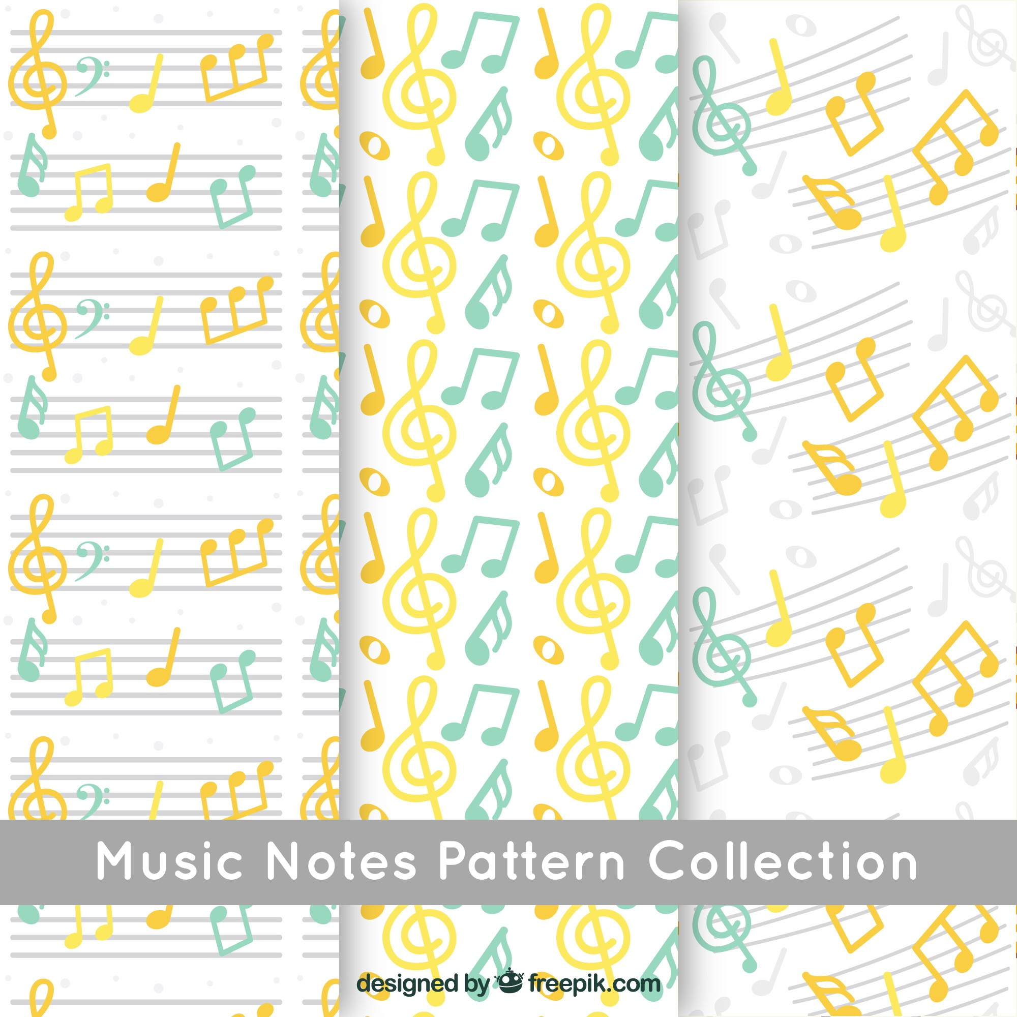 Music notes pattern background collection