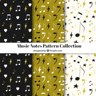 音楽ノートパターンコレクション