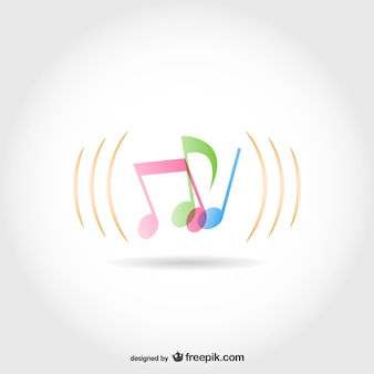Music notes vector template