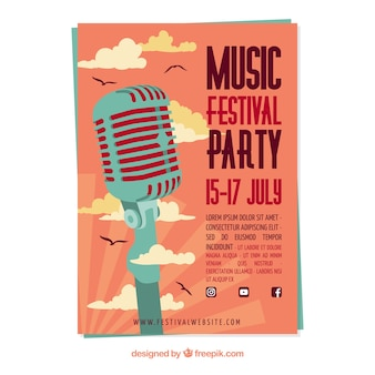 Music party poster