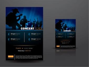 Music Show & Concert Balck Flyer