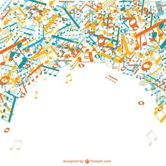 Music vector free template background