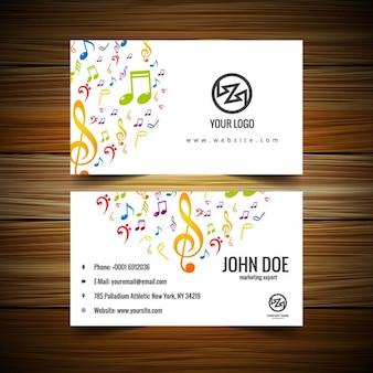 Music visiting card