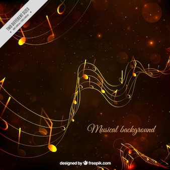 Musical background in yellow tones