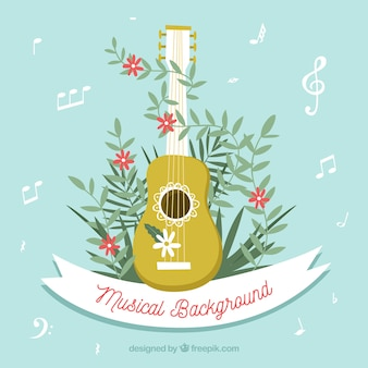 Musical background with ukelele