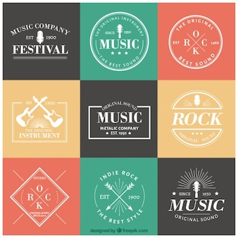 Musical logotype collection
