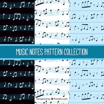 Musical note patterns