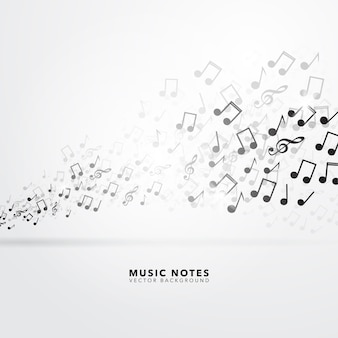 Musical notes background design