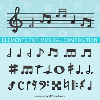 Musical notes for composition