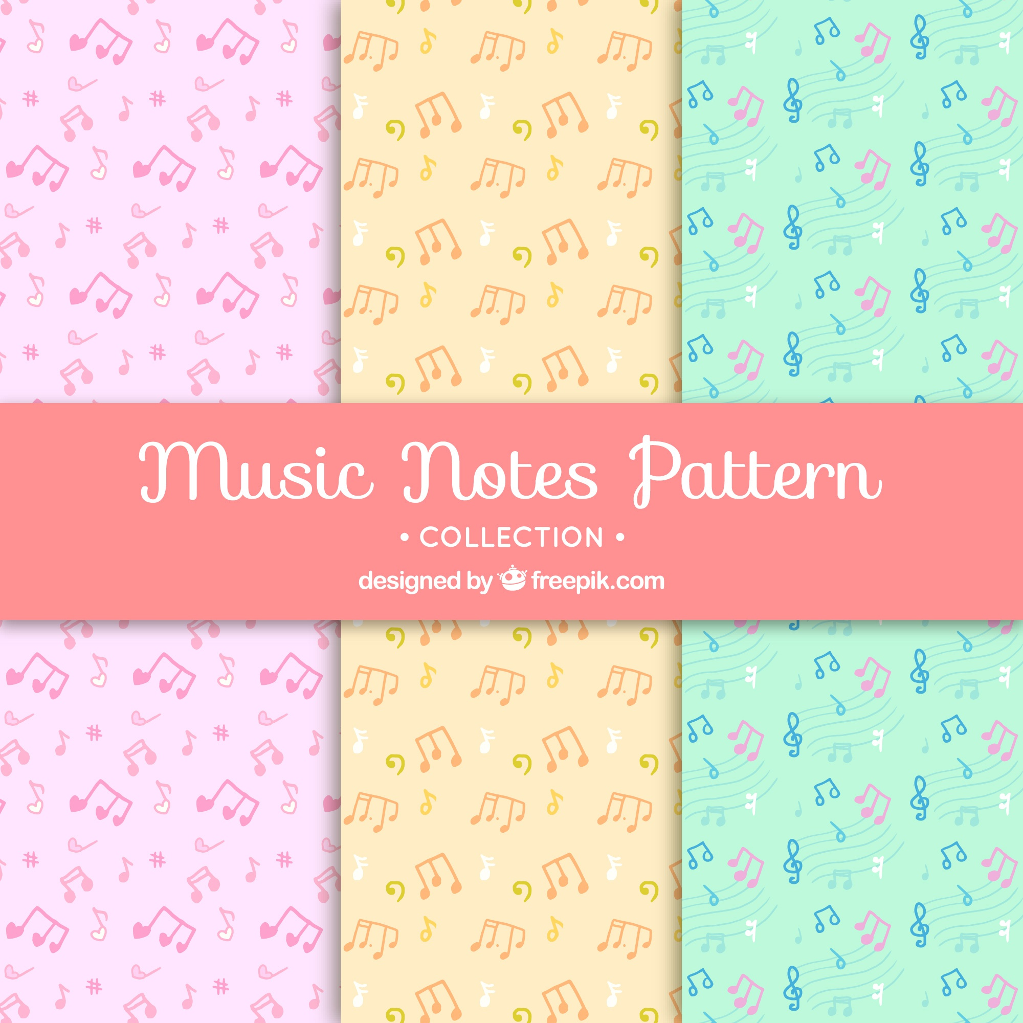 Musical pattern background collection